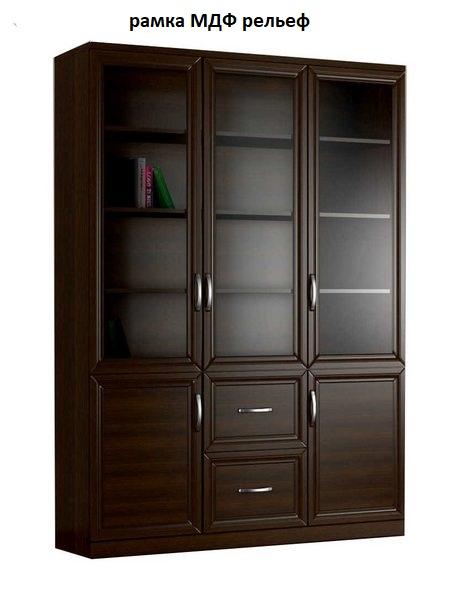 Шкаф книжный 3№4 рамка МДФ (рельеф)