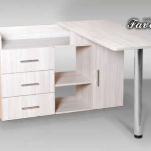 Белый компьютерный стол Абсолют-22