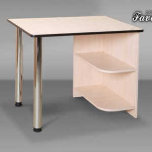 Белый компьютерный стол Абсолют-7