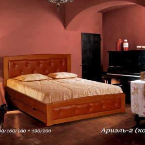 Двуспальная кровать Ариэль 2 (кожа)