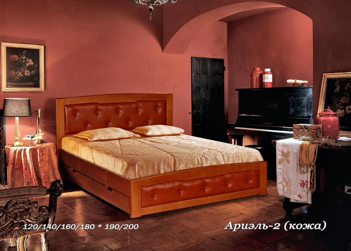 Кровать Ариэль 2 (кожа)