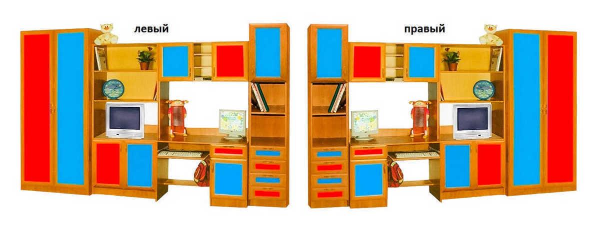 Детская стенка Том и Джери-4 шкаф слева или справа