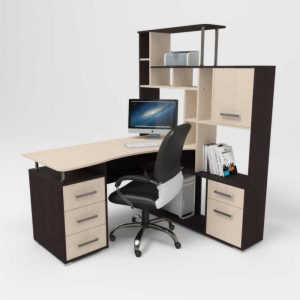 Белый компьютерный стол Джаз КС15
