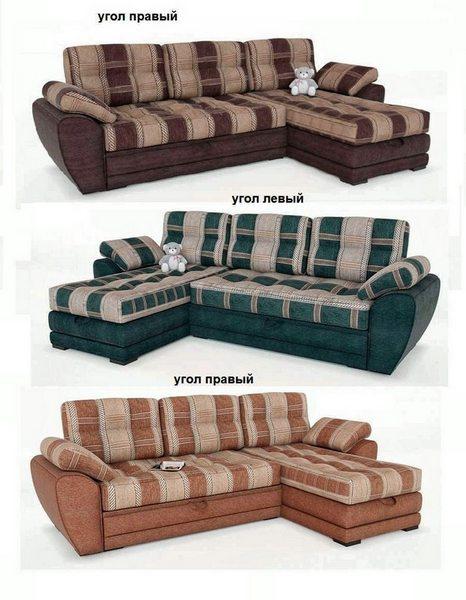 Угловой диван Император-2 в разных расцветках