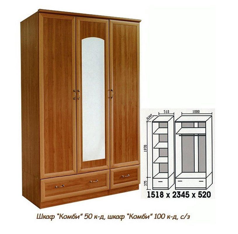 Гардеробный шкаф Комби 150КД