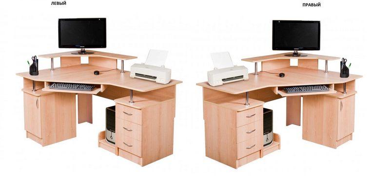 Компьютерный стол №7 левый или правый