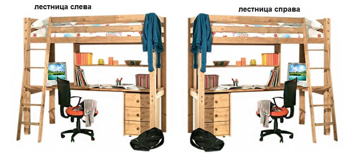 Кровать Кадет 4 лестнице справа или слева