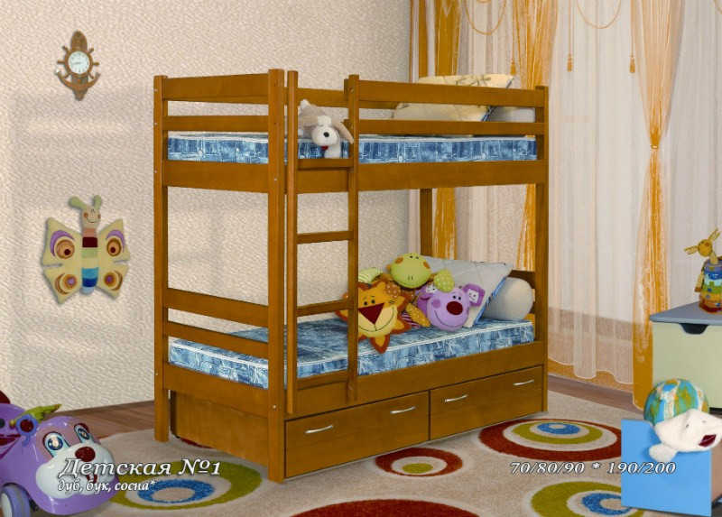 Кровать 2-х ярусная №1