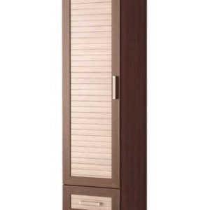 Однодверный шкаф распашной ПР-3 (жалюзи рейка)