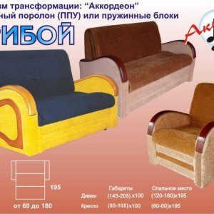 Раскладной диван аккордеон Прибой