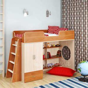Детская стенка Кровать-чердак Сказка-1