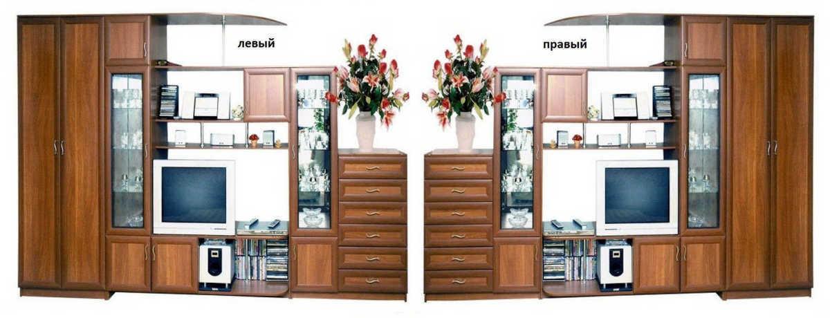 Стенка Алиса шкаф слева или справа