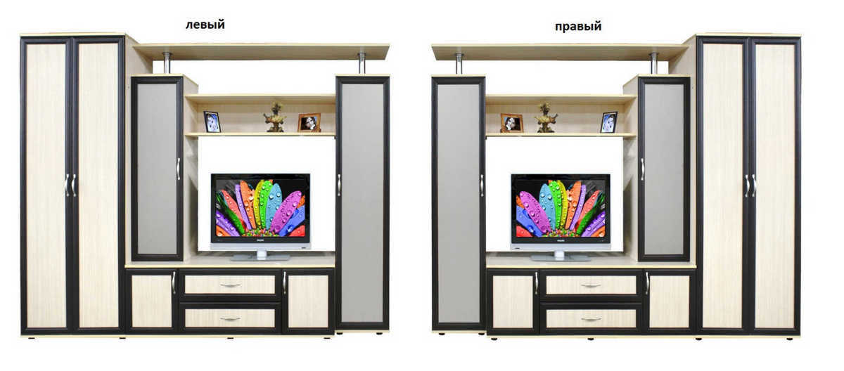 Стенка Бэтта шкаф слева или справа