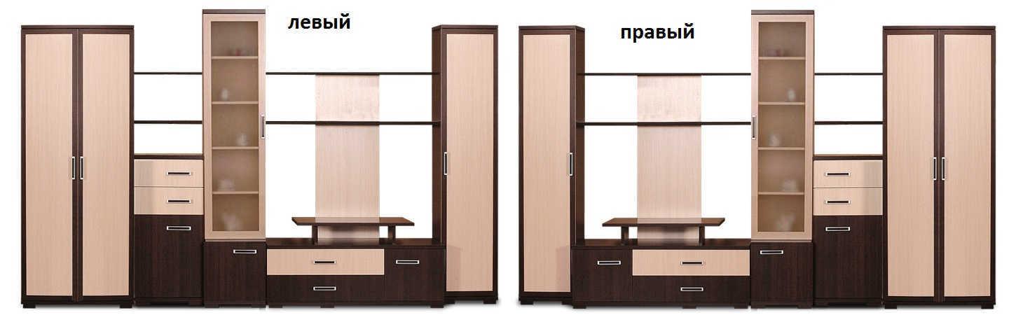 Стенка Мега-3 шкаф слева или справа