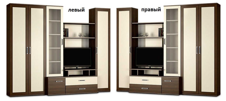 Стенка Мега-4 шкаф слева или справа
