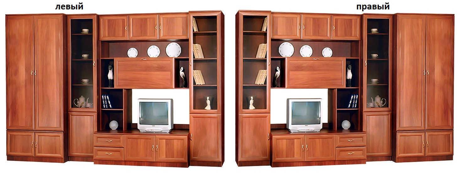Стенка Нинель-3 шкаф слева или справа