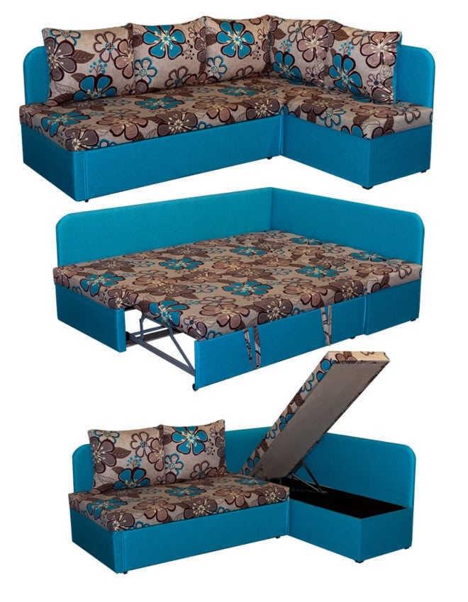 Угловой диван Берта в разборе