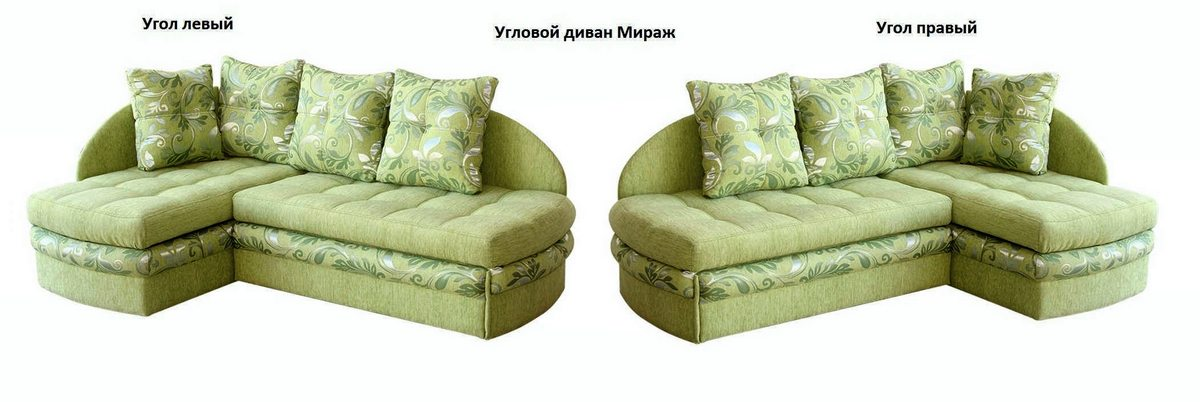 Угловой диван Мираж левый или правый