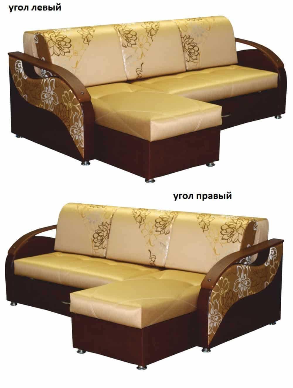 Угловой диван Три Кита левый или правый