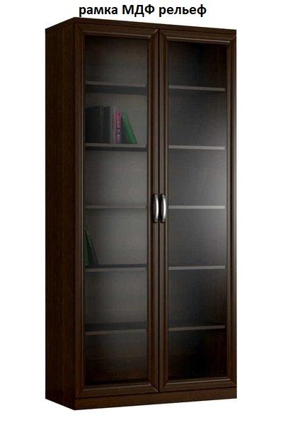 Шкаф книжный 2№1 рамка МДФ (рельеф)