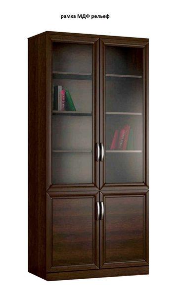 Шкаф книжный 2№3 рамка МДФ (рельеф)