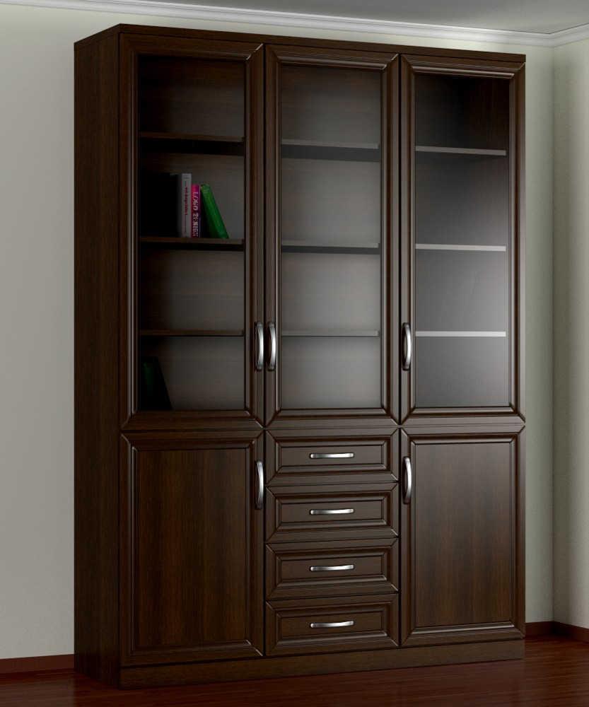 Шкаф книжный 3№8 рамка МДФ (рельеф)