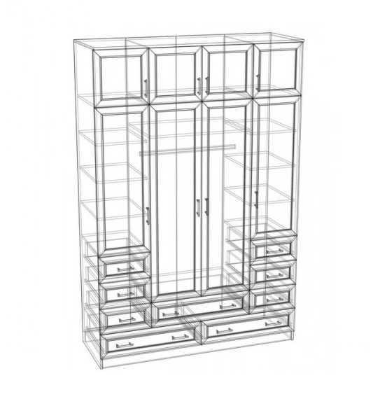 Шкаф распашной ЧР-17 схема наполнения