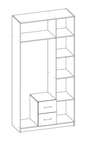 Шкаф распашной Эконом-3