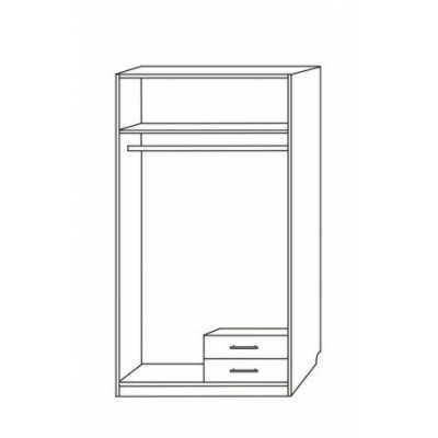Шкаф распашной Эконом-2