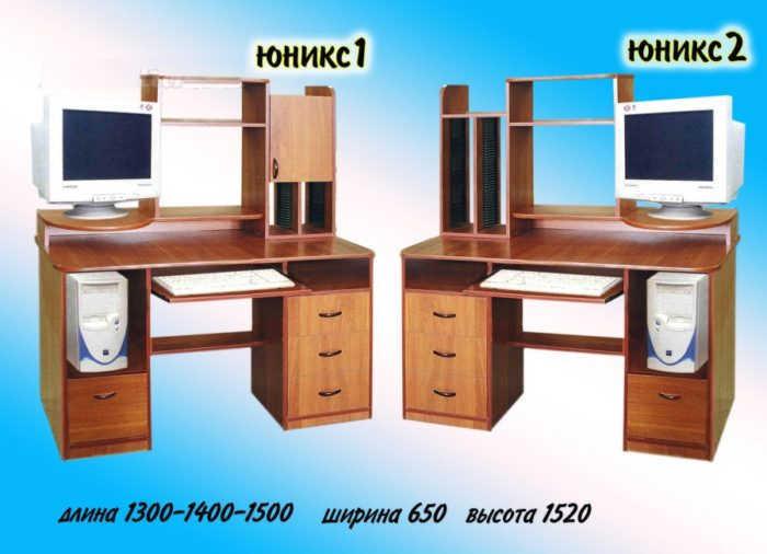 Компьютерный стол Юникс 1 и 2