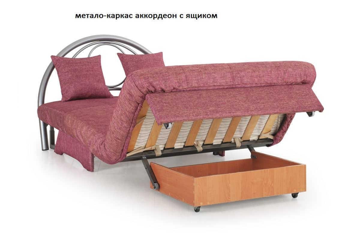 метало-каркас аккордеон с ящиком