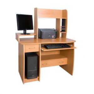 Белый компьютерный стол №20