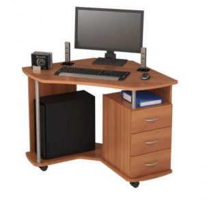 Белый компьютерный стол №5