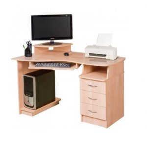 Белый компьютерный стол №8