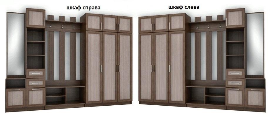 Прихожая Любава 2 шкаф слева или справа