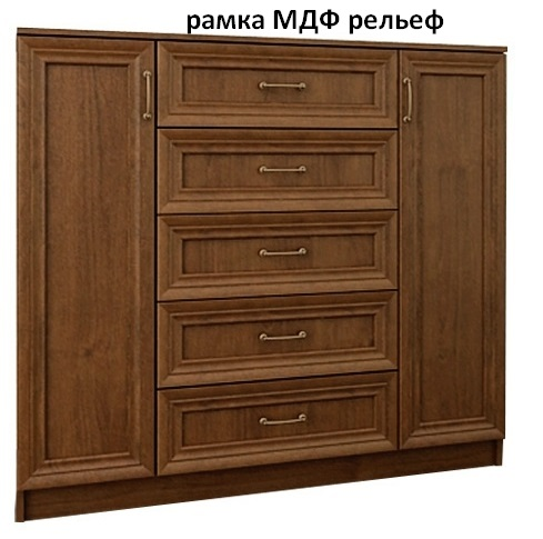 Комод Арлен 4 рамка МДФ рельеф