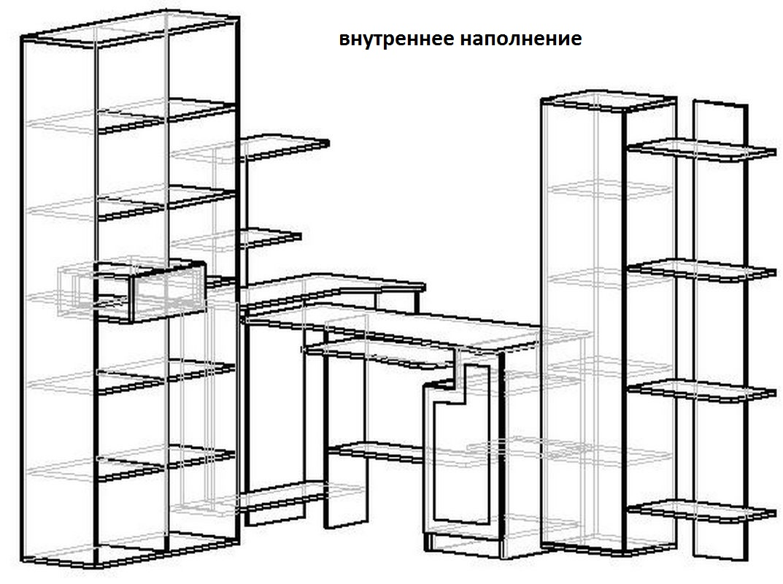 Компьютерный стол Млайн-4 схема