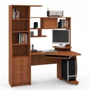Белый компьютерный стол Комфорт 9