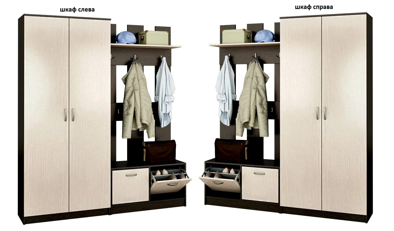 Прихожая Ольга-6 шкаф слева или справа
