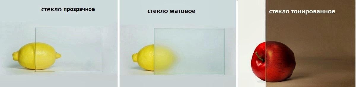 стекло матовое или тонированное