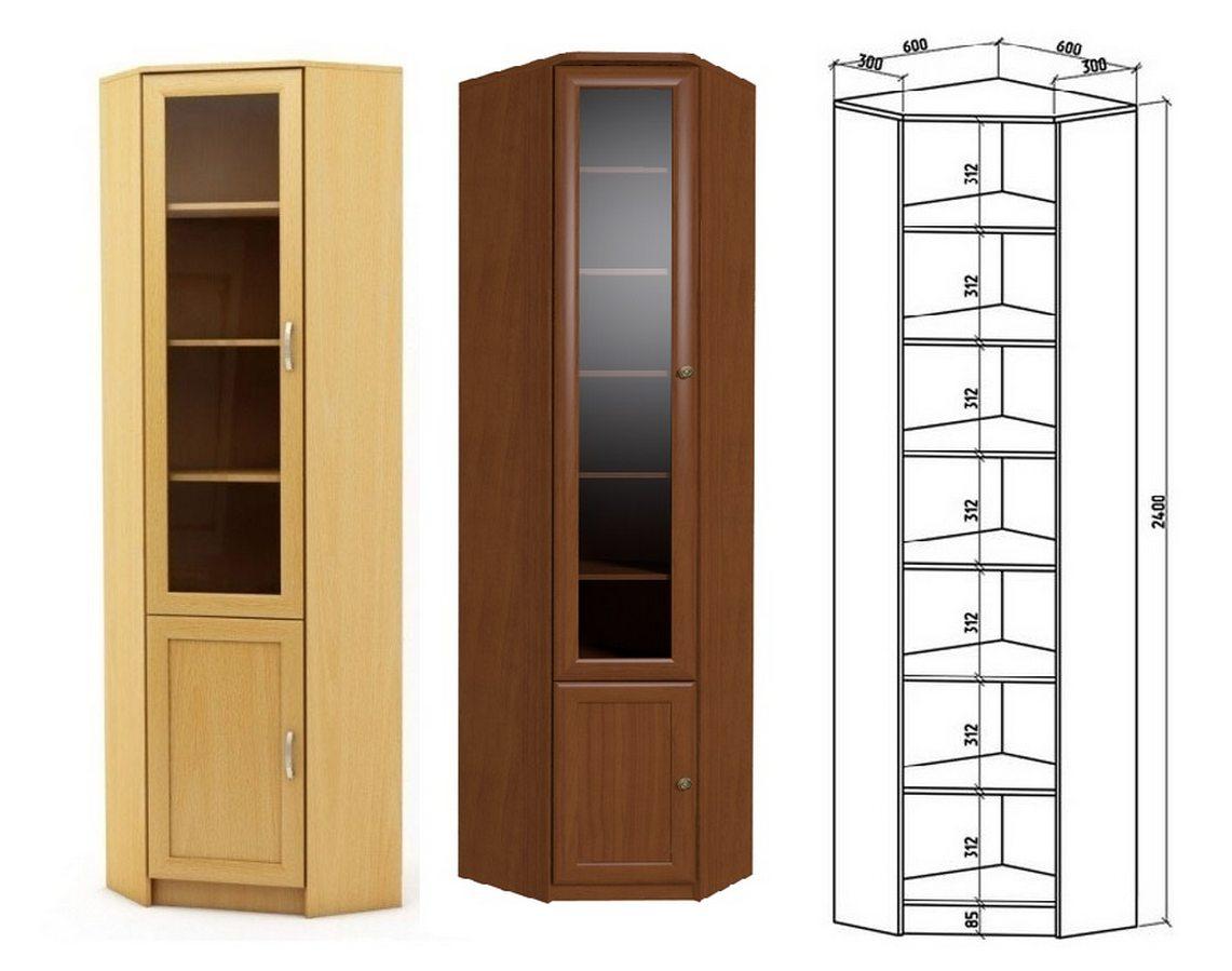Шкаф книжный Верона А схема с размерами