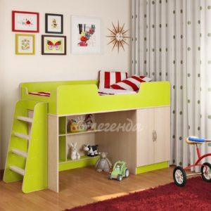 Детская стенка Кровать-чердак Сказка-2