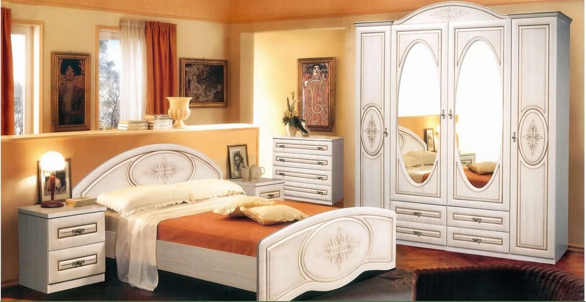 Спальня Медея МДФ патина