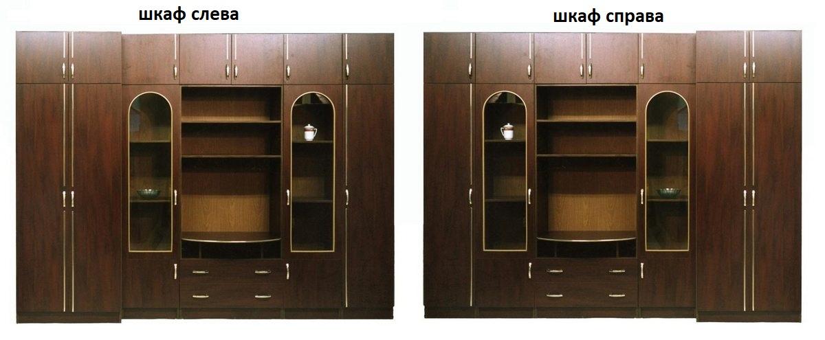 Стенка Олимп шкаф слева или справа