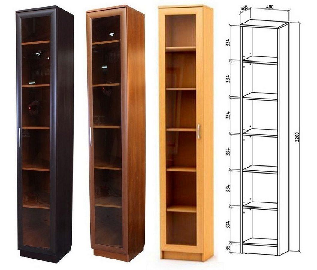 Шкаф книжный Верона 1 схема с размерами