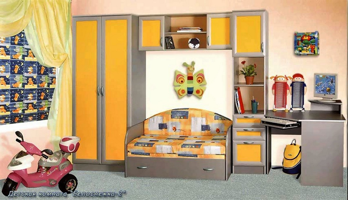 Детская стенка Белоснежка 2 с диваном