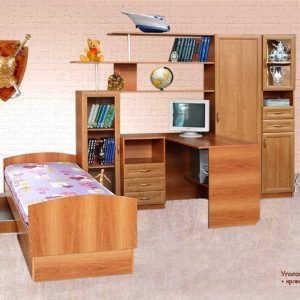 Детская стенка Уголок школьника 2М+кровать+пенал