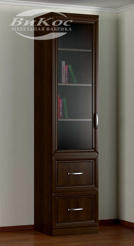Шкаф книжный 1№4 (МДФ рамка рельеф)