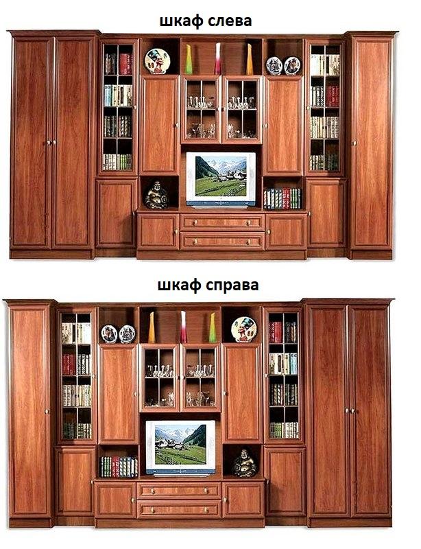 Стенка Клио шкаф слева или справа