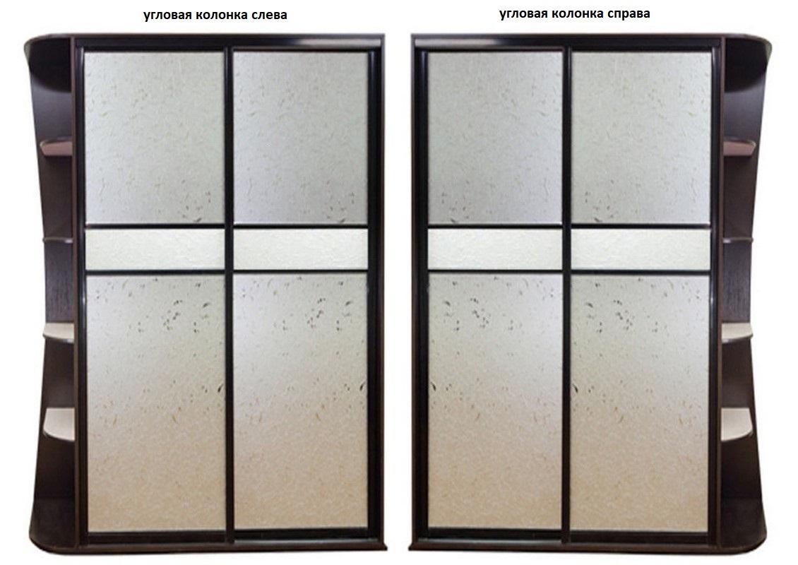 Шкаф-купе Лацио-4 угловая колонка слева или справа